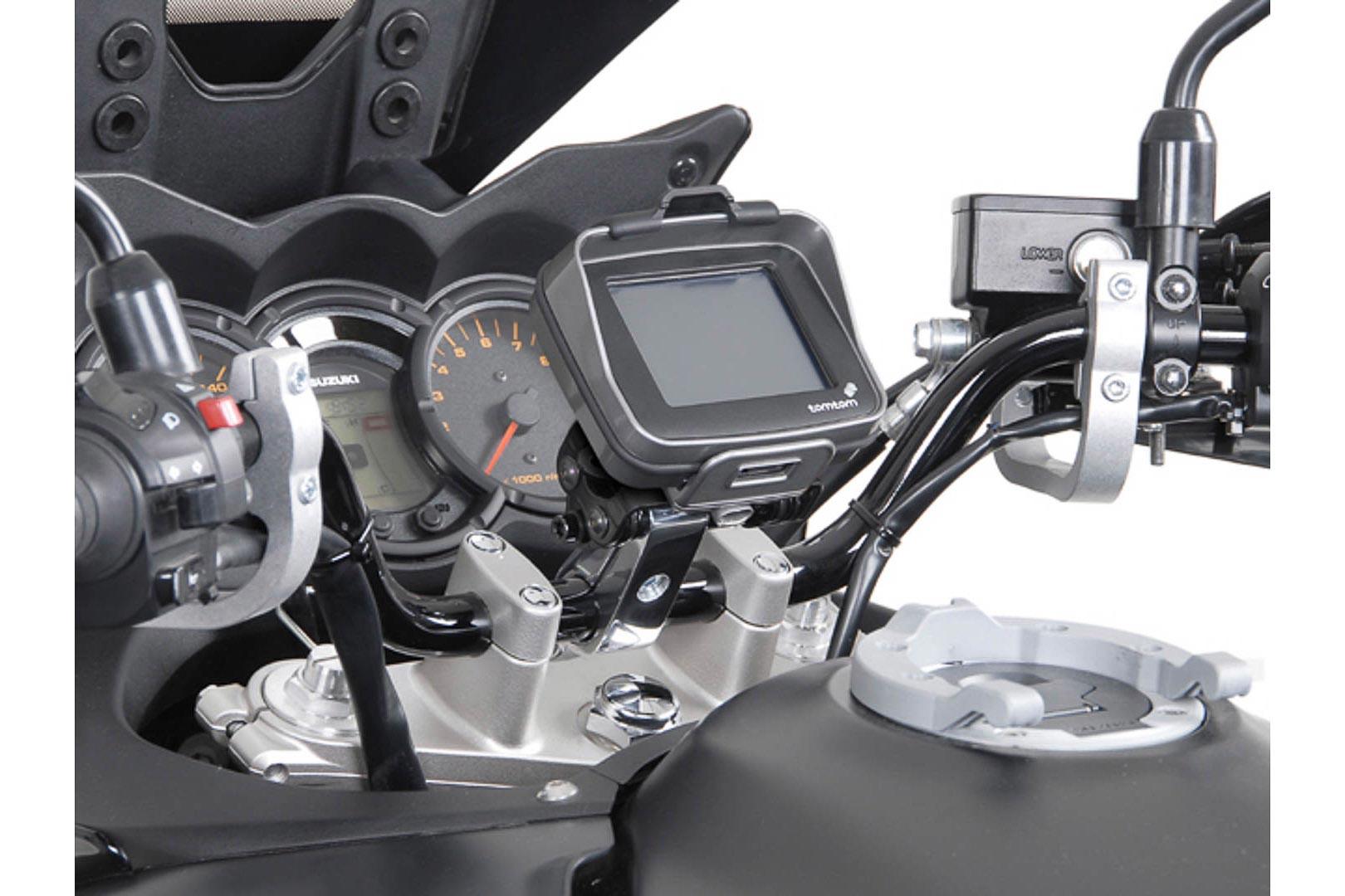 Ohjaustangon GPS-pidike 1″ / 25,4 mm  hopea