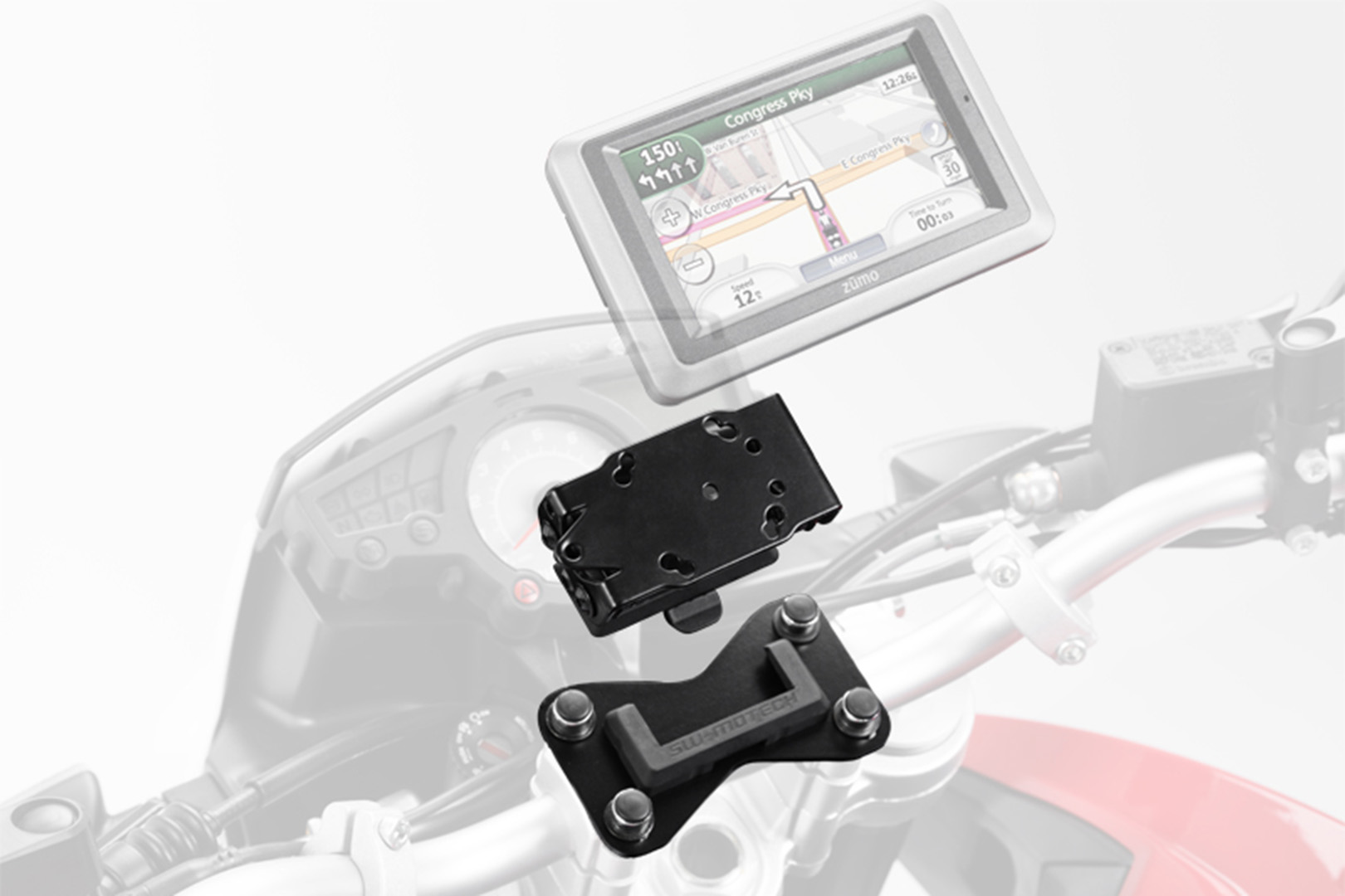 SW-Motech Quick-Lock GPS-pidike BMW R1150R / Honda XL650-1000V, CB1300S