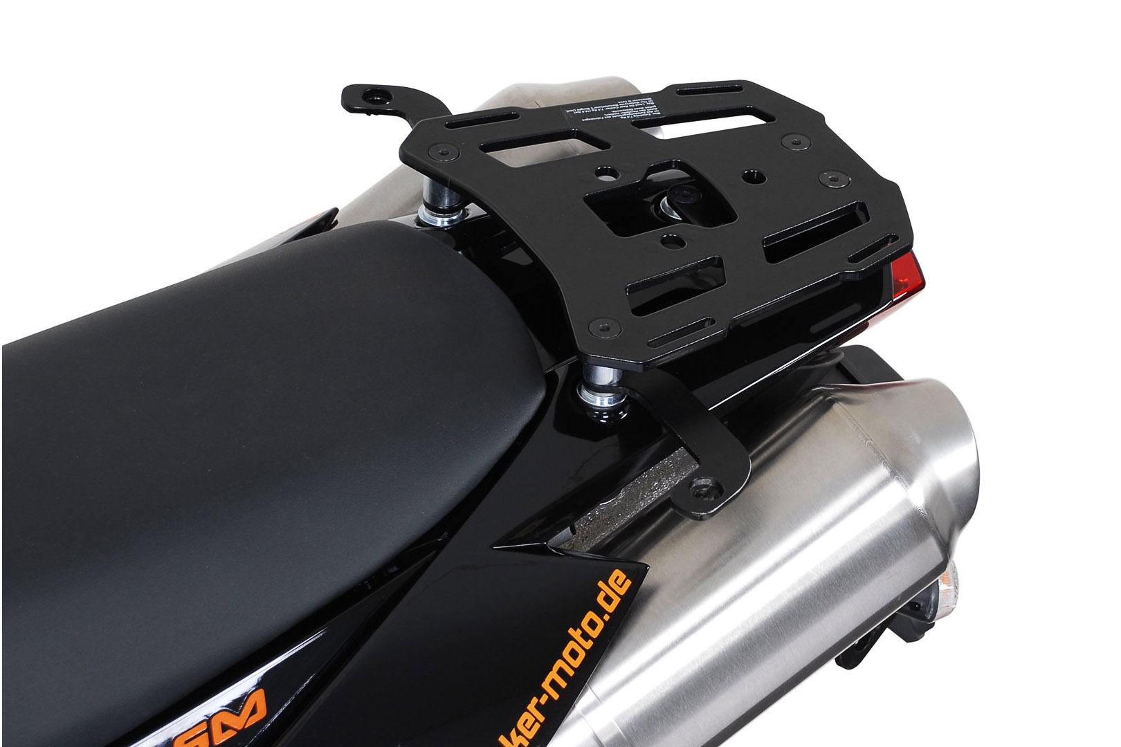 SW-Motech Alu-Rack peräteline KTM LC8 Supermoto 06- musta