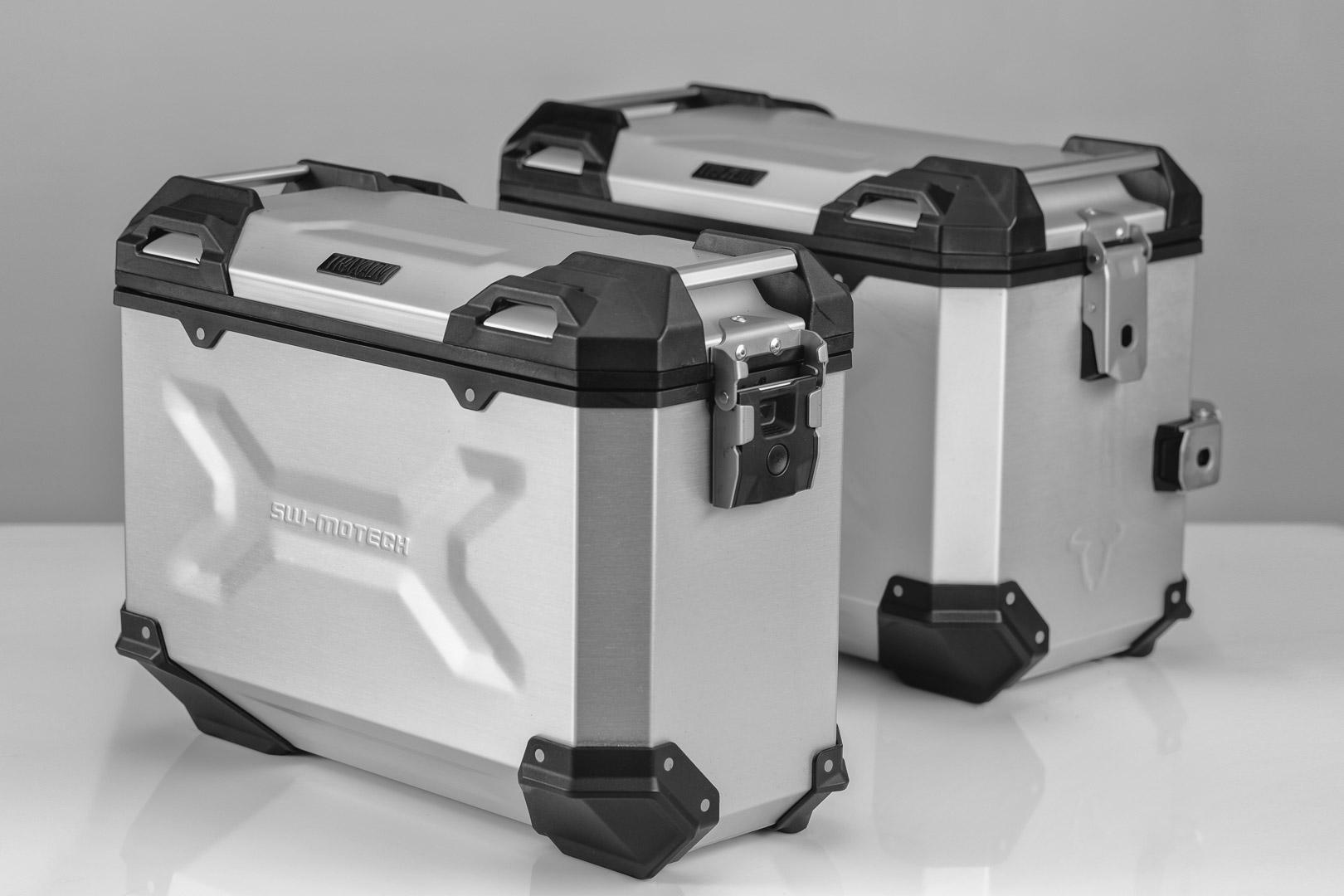TRAX ADV Laukkupaketti, hopea,  Honda CBF 1000 F 09-16