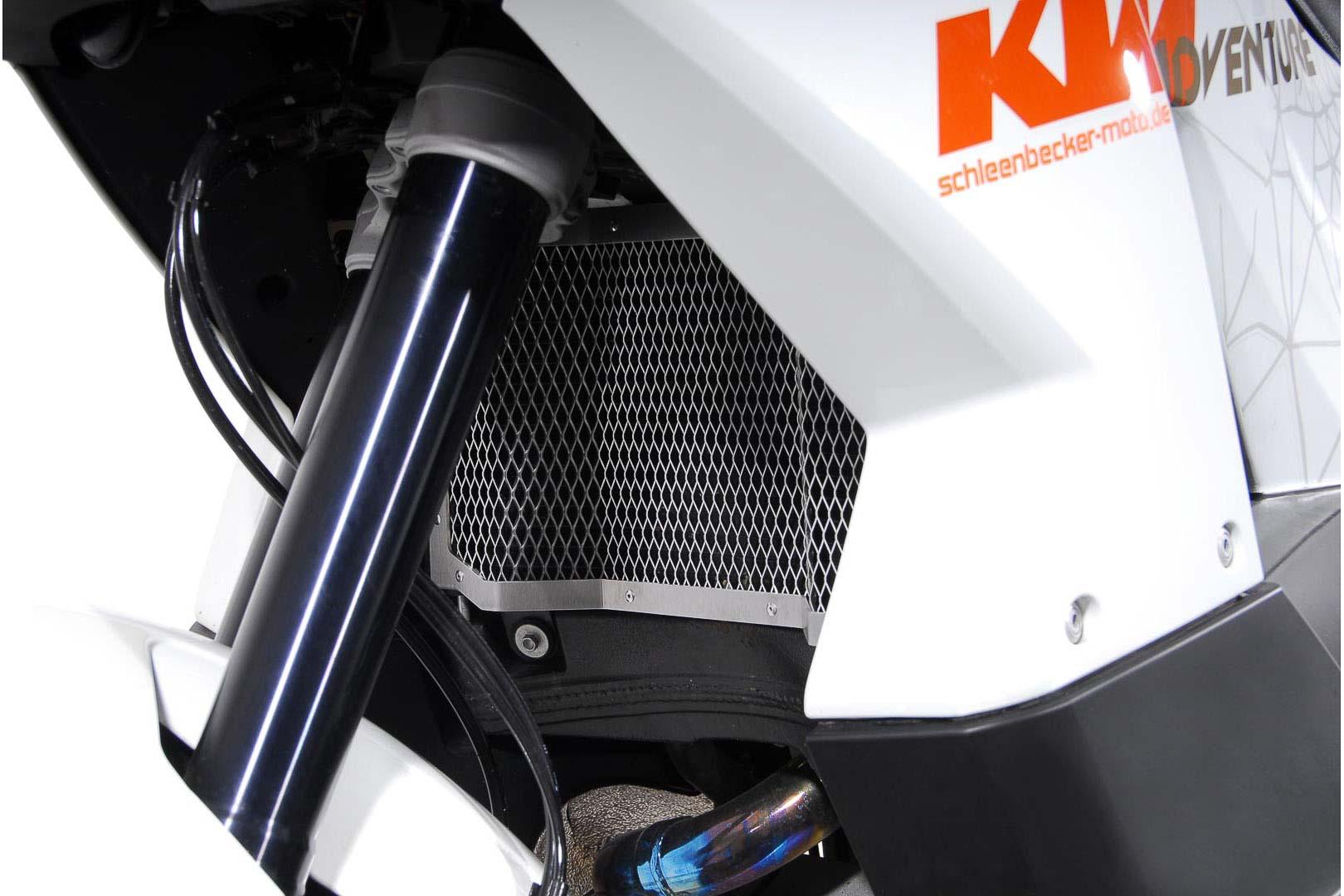 SW-Motech Jäähdyttimen suoja KTM LC8 950 Adventure hopea