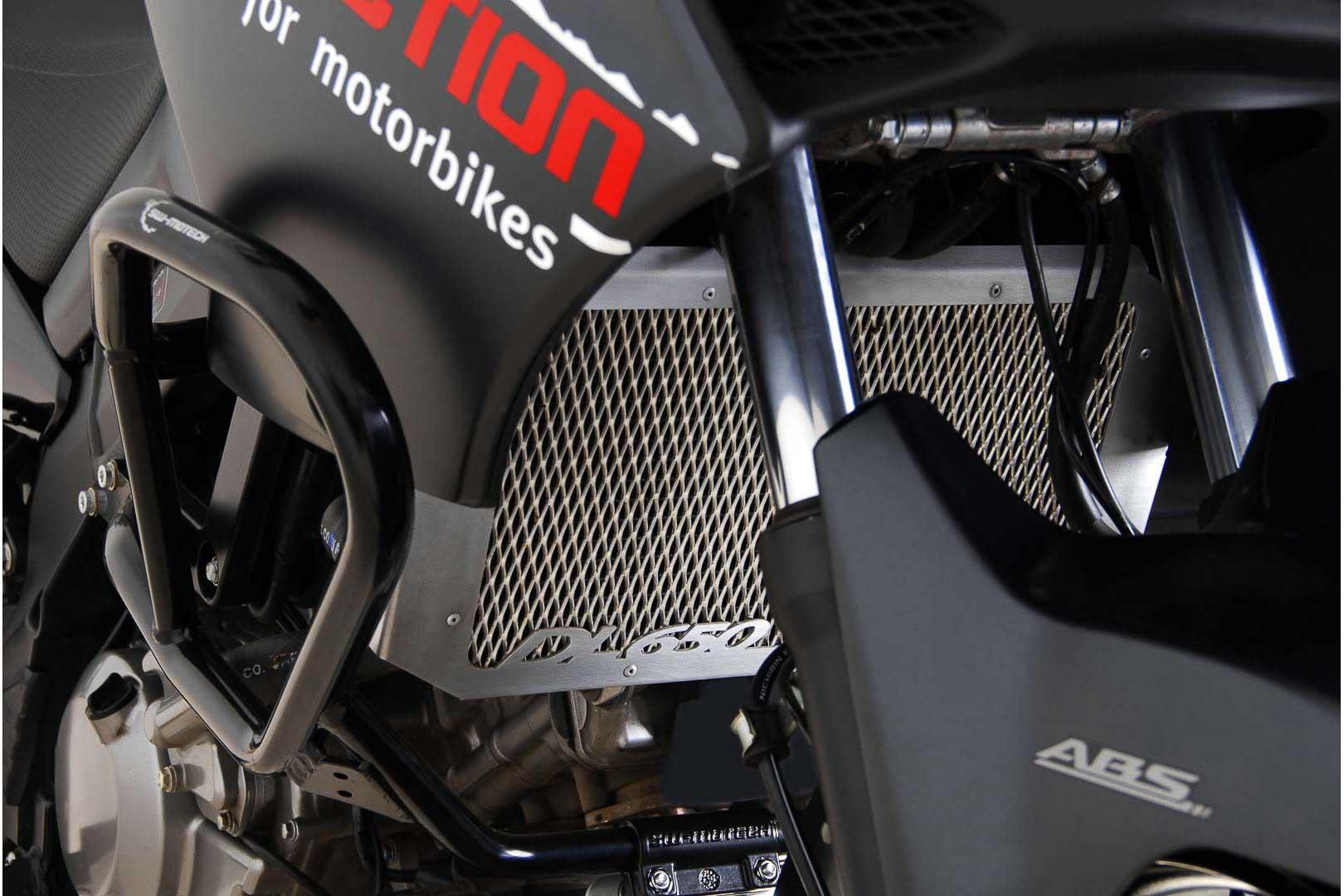 SW-Motech Jäähdyttimen suoja Suzuki DL650 V-Strom hopea