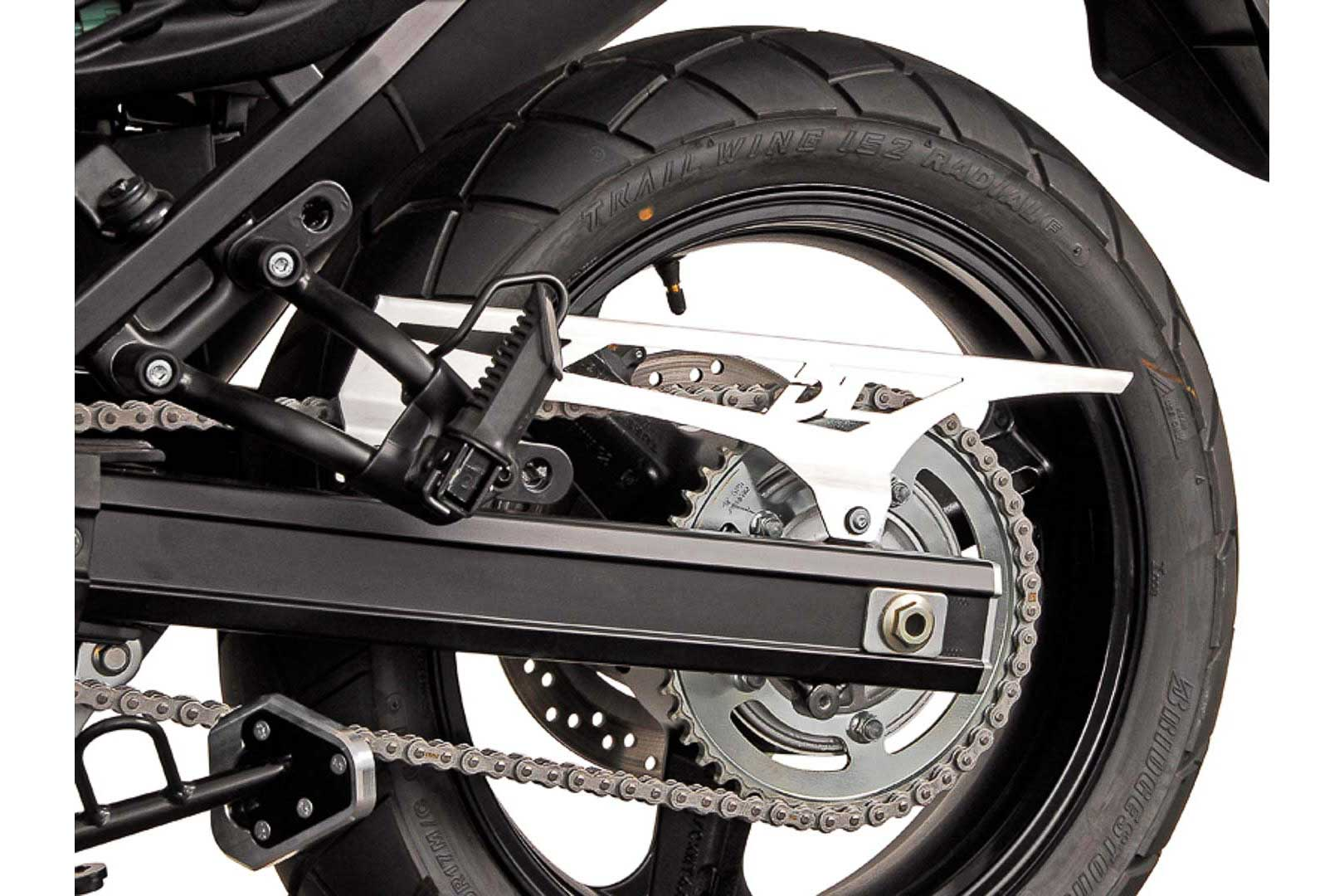 SW-Motech Ketjusuoja Suzuki DL650 V-Strom hopea