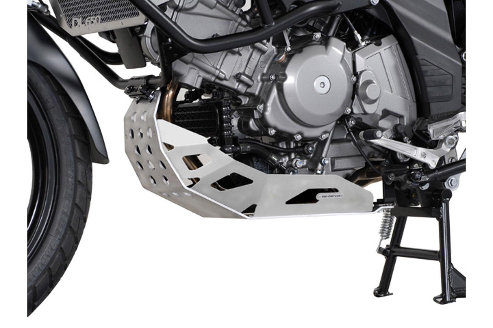 SW-Motech Pohjapanssari Suzuki DL650 V-Strom hopea