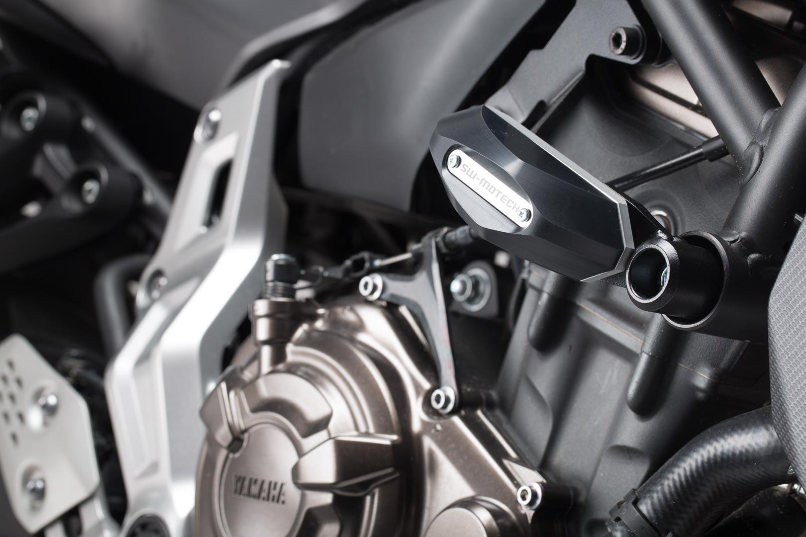 Frame Slider -sarja, musta. Yamaha MT-07 (14-)