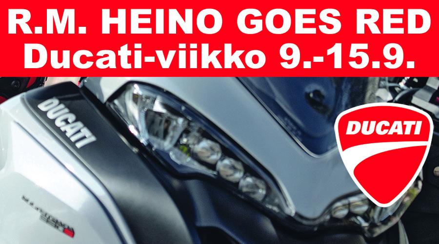 R.M. Heino Goes Red 9.-15.9.