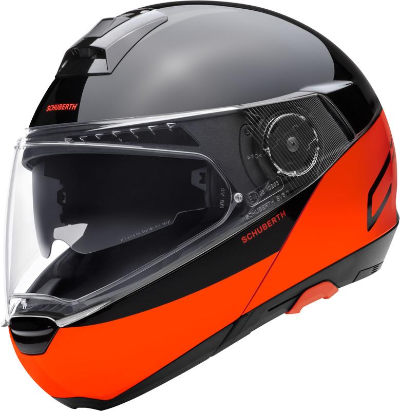 Schuberth C4 Pro Swipe oranssi