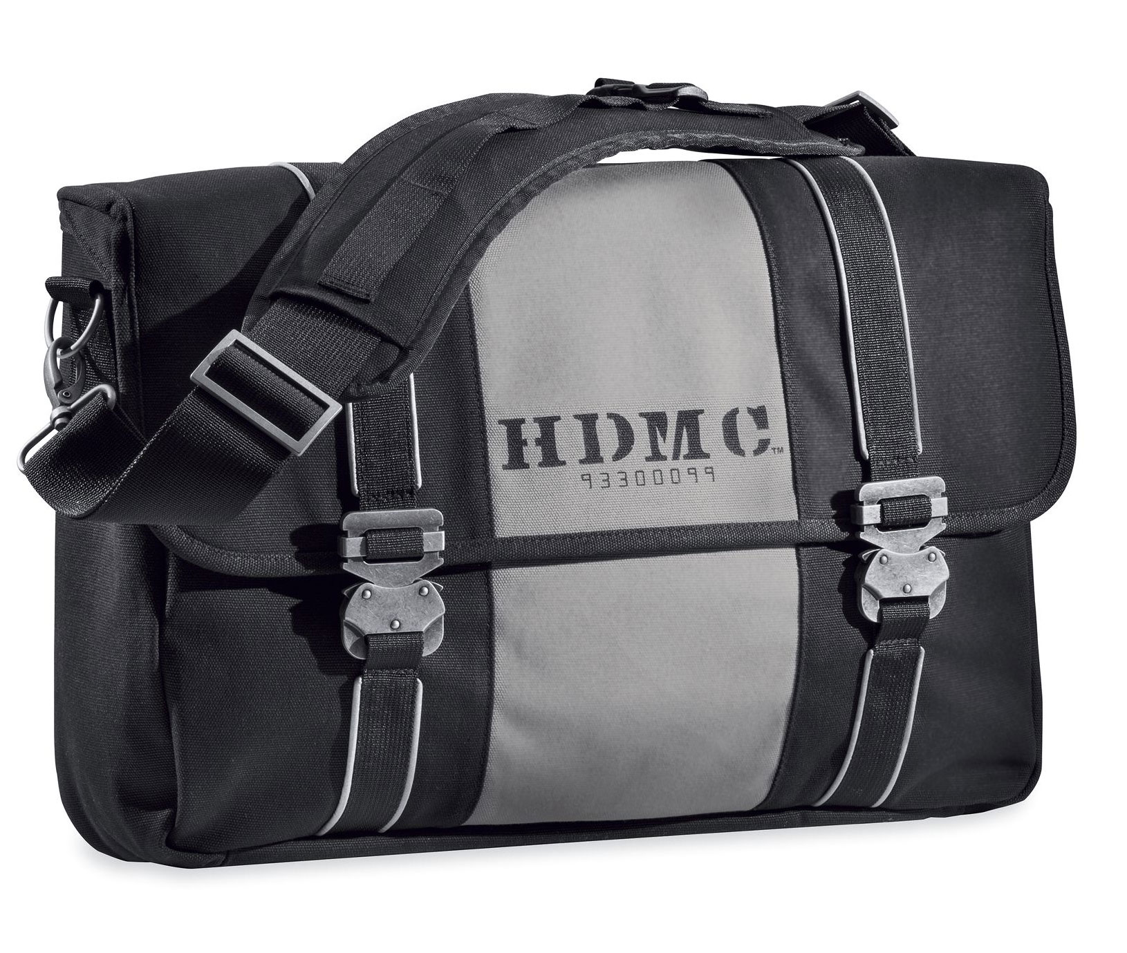 HDMC MESSENGER BAG – BLACK/SIL