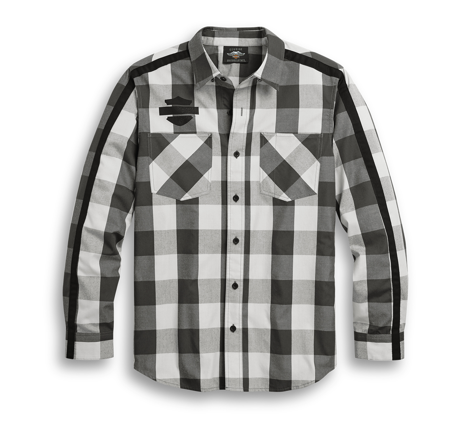 Harley-Davidson Men's Sleeve Stripe Plaid Shirt
