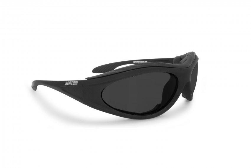 Bertoni AF125A aurinkolasit, Rubber black, soft touch/smoke