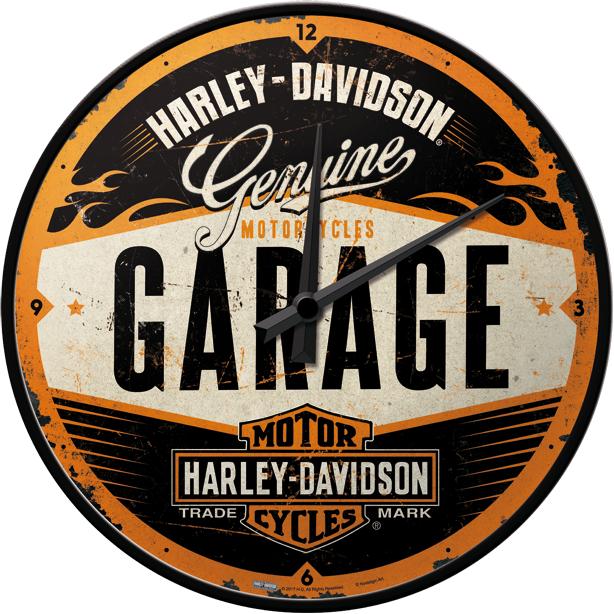 Harley Davidson seinäkello – GARAGE Style