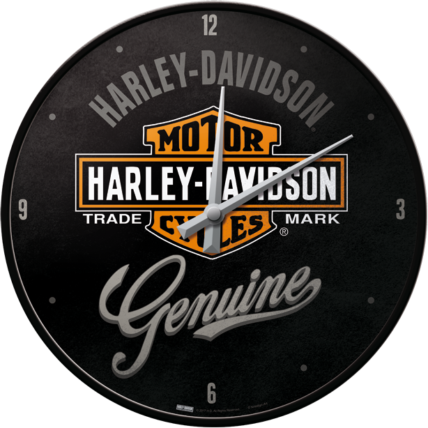 Harley Davidson seinäkello – GENUINE Style