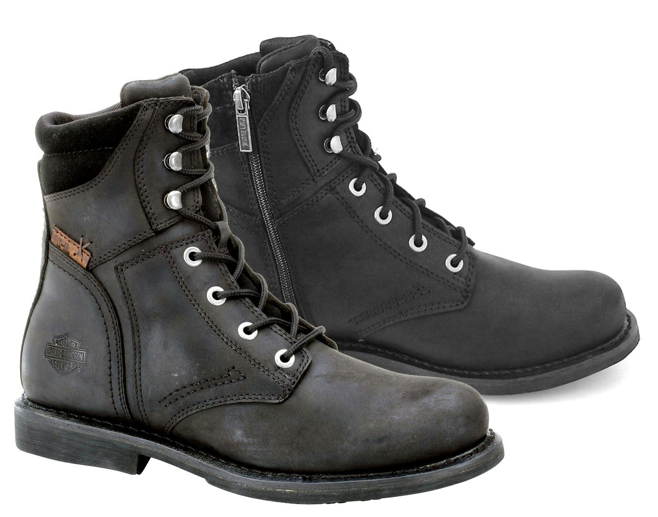 Harley-Davidson Men's Darnel CE Lace Up Boots Black